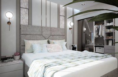 Спалня в пастелни тонове